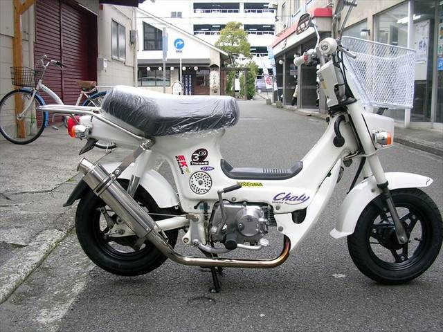 honda chaly  white  km details japanese  motorcycles goobike english