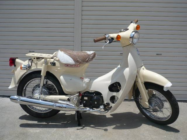 Honda Little Cub New Bike Cream ― Km Details