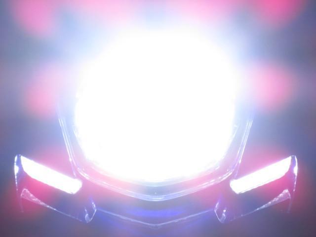 別途有料オプションにて LEDヘッドライトも有ります