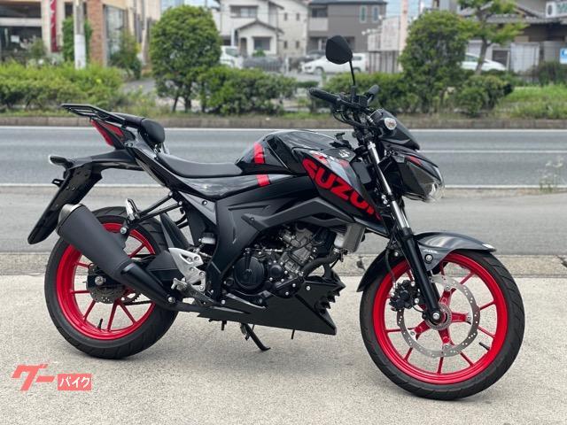 GSX−S125 2020年モデル 黒 /赤 リヤキャリア付き