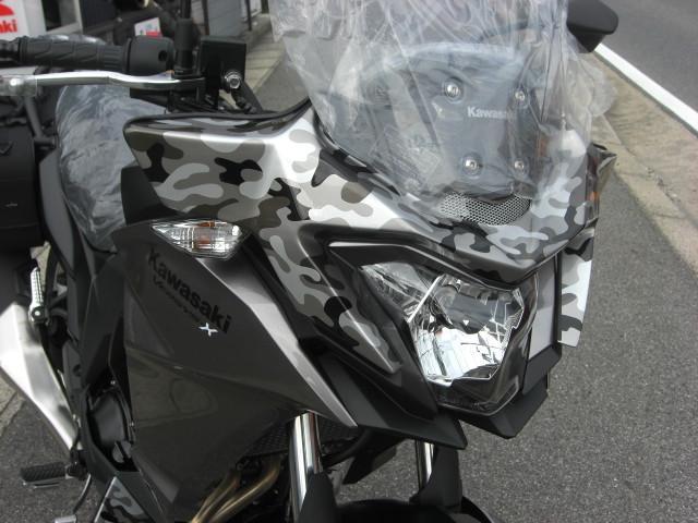 カワサキ VERSYSーX 250 アドベンチャーカスタム カモフラージュペイントの画像(愛知県