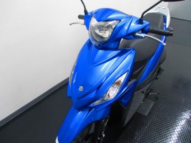 スズキ アドレス110 新車 トリトンブルーメタリックの画像(静岡県