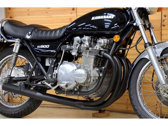 カワサキ KZ900 1976年 ブラックカスタム ショート管他の画像(愛知県