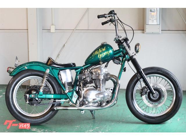 カワサキ W650 グリーン チョッパー フルカスタムの画像(愛知県