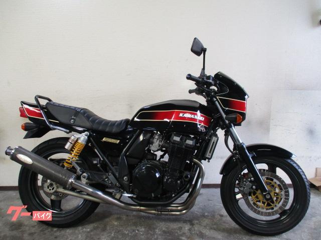 ZRX400 黒赤 E4カラー ハンドル ノジママフラー シート サス