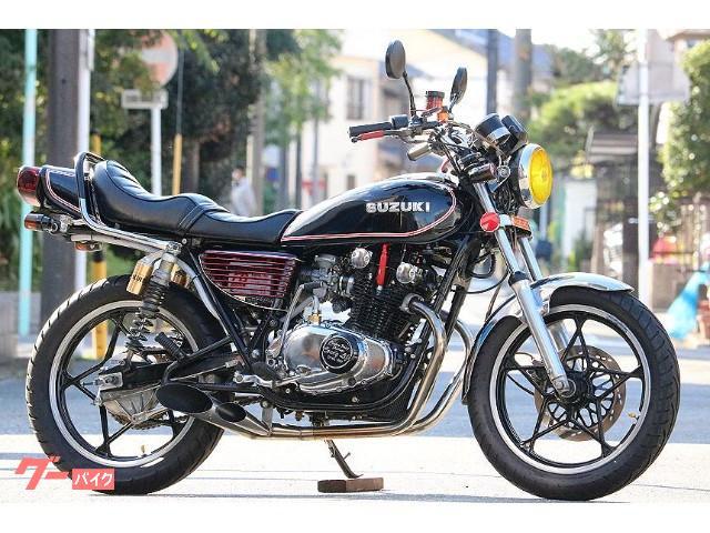 GS400 エンジンOH済み ウオタニSP2 ワイセコ450 ボアアップ 油圧クラッチ デュアルサイクロン オーリンズ マーシャル
