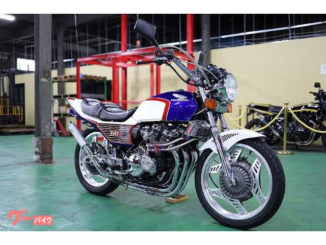 CBX400F フルカスタム 青白 フルBEET フルメッキ BASE管 オイルクーラーサーモ付きサイド廻し CB1000ハンドル