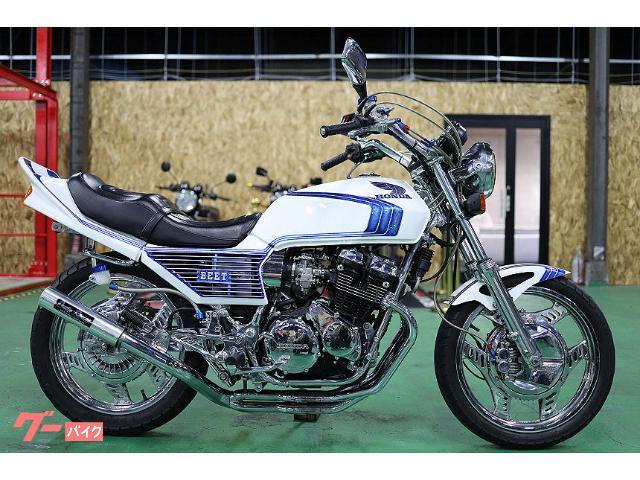 CBX400F フルカスタム カスタムペイント フレームメッキ フルメッキ エンジンOH ガニマタブレット マーシャルフルBEET