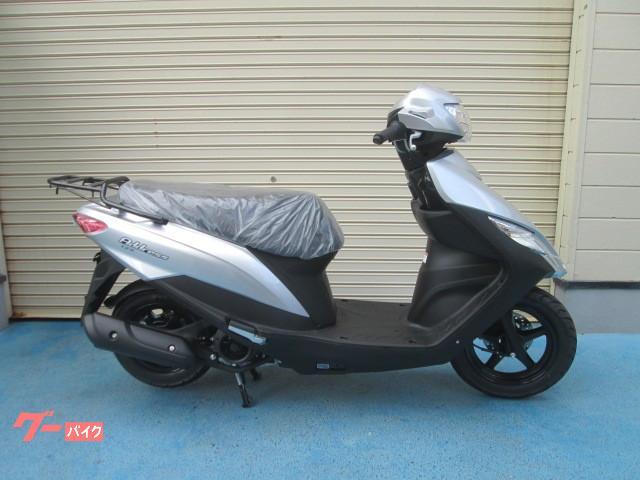 スズキ アドレス125 最新モデル フラットシート仕様 ヘルメット付の画像(山口県