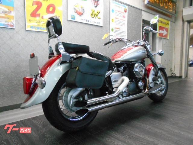 ヤマハ ドラッグスター400クラシック バックレスト マフラー バッグの画像(愛媛県