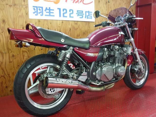 カワサキ ZEPHYR750  KERKERメガホンマフラー ビキニカウルの画像(埼玉県