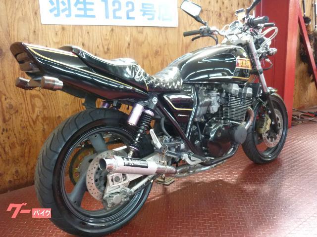 ヤマハ XJR400R 黒金RZカラー 社外マフラー タックロールシートの画像(埼玉県