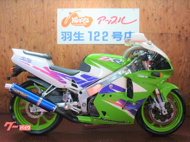 ZXR250 ライムグリーン ファディーダディーサイレンサー ステダン