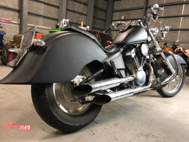 ホンダ スティード400 ハーレールック フルカスタム マットブラックの画像(北海道