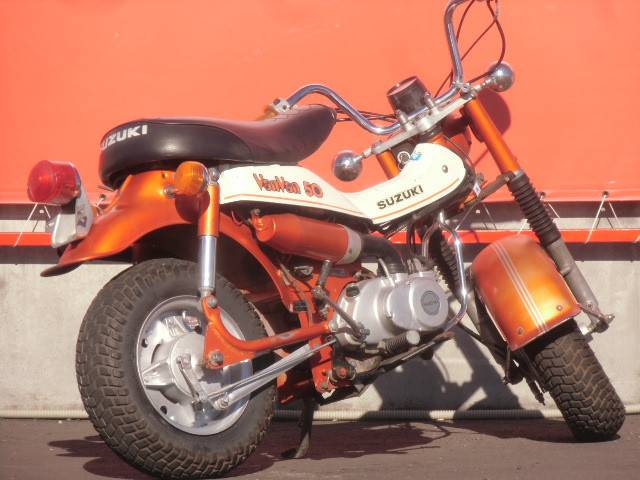 スズキ バンバン50 ノーマル オレンジカラーの画像(群馬県