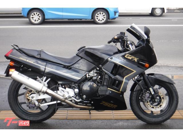 GPX750R バーハン仕様 LASERフルエキ