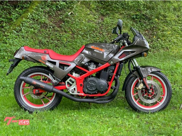 GSX400Xインパルス ヨシムラデュプレックスサイクロン ハーフフェアリング 3Wayクーリングシステム 59馬力 153キロ