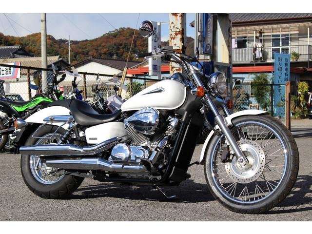 ホンダ シャドウ400カスタム サイドバッグサポートステー付きの画像(栃木県