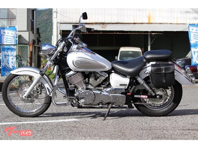 ヤマハ ドラッグスター250 サイドバック エンジンガードカスタムの画像(栃木県