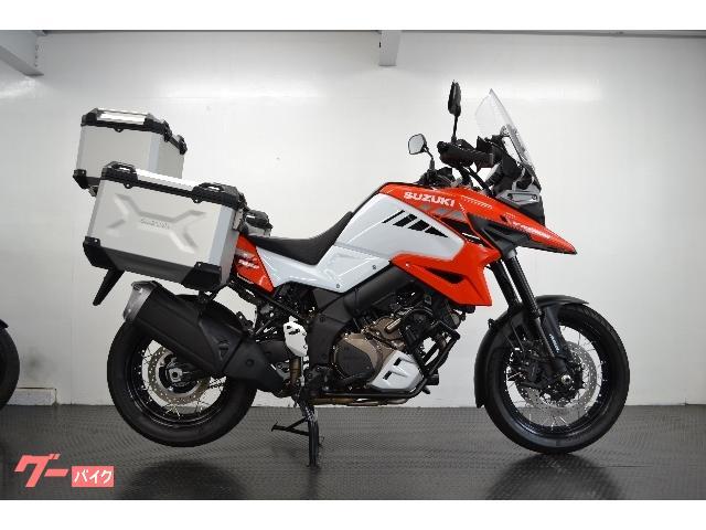 V−ストローム1050XT オレンジ/ホワイト ETC 3点アルミパニアケース トラコン クルコン ABS