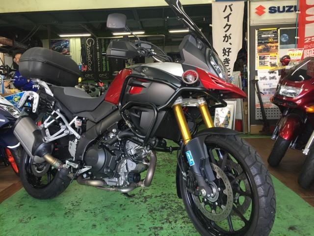 スズキ V-ストローム1000ABS エンジンガード ETC・ 社外スモースクリーンの画像(東京都