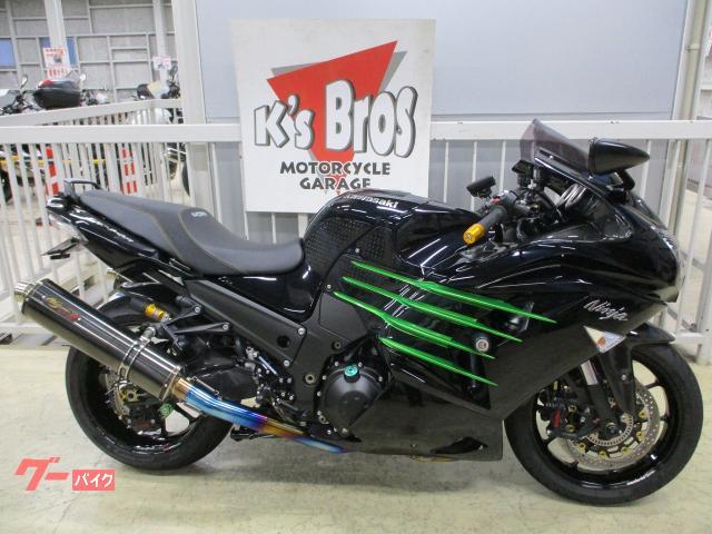 Ninja ZX−14R カスタム多数・前後ホイル・前後キャリパー・マフラー・ブレーキマスター・クラッチマスター他