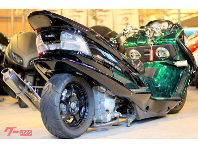 スズキ スカイウェイブ250 タイプS特注45ロンホイDC製エアサスUSAスピーカーフルカスタムの画像(埼玉県