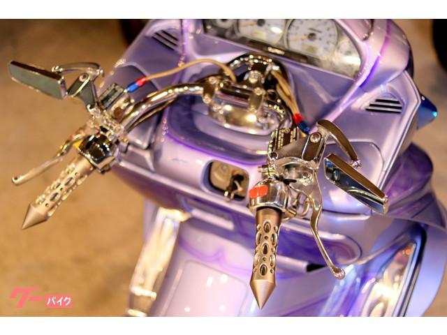 スズキ スカイウェイブ250 タイプSデイトンワイヤーホイールDC製エアサス特注ロンホイフルカスタムの画像(埼玉県