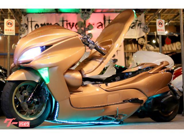 ホンダ フォルツァ・Z胴体着地エアサス35ロンホイ七色LED4発スピーカー フルカスタムの画像(埼玉県