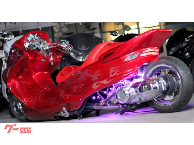 ヤマハ マジェスティC龍真紅ペイントMARUZENリンク式50ロンホイLEDエアサスフルカスタムの画像(埼玉県