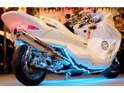 ヤマハ マジェスティCフレーム強化バー付きロンホイ七色LEDオーディオフルカスタムの画像(埼玉県