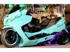 スズキ スカイウェイブ250 タイプM横浜アドバン16インチ太足ホイールTechgarage-S4製エアサスロンホイフルカスタムの画像(埼玉県