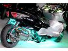 ホンダ フォルツァ・Zエタニティ製30ロンホイ七色全身LEDスピーカーHIDシャコタン特注とぐろマフラー日章旗グリーンバッジフルカスタムの画像(埼玉県