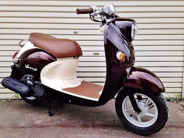 ヤマハ ビーノ 4サイクル オールブラウン 新品シート張替済みの画像(埼玉県