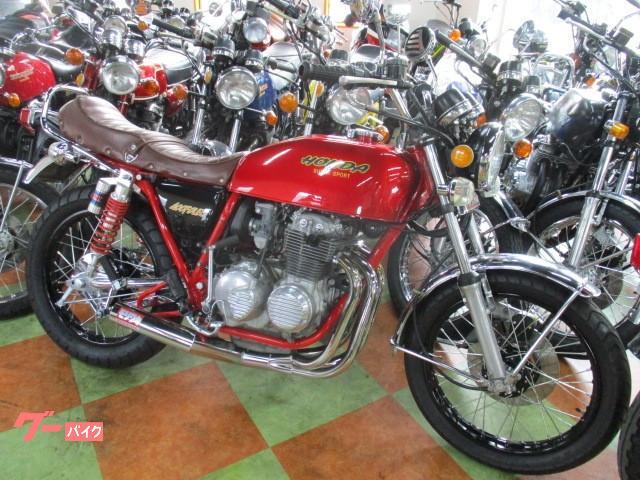 CB400F(398cc)キャンディーレッド・スポーク新品張替え・398登録車