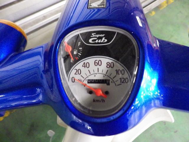 ホンダ スーパーカブ110 国内最新モデル グリントウェーブブルーメタリックの画像(千葉県