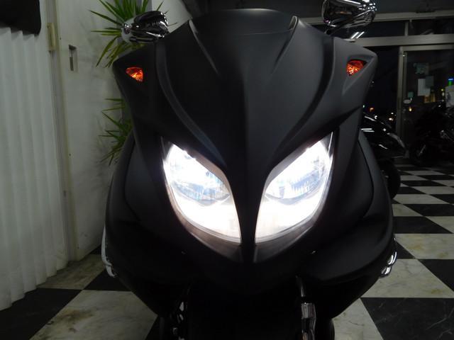 ヤマハ マジェスティC LED2スピーカー 改マフラー マッドブラックカスタムの画像(埼玉県