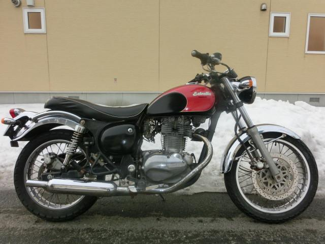 カワサキ エストレヤRS 前後タイヤ新品 キャブOH バッテリー新品の画像(北海道
