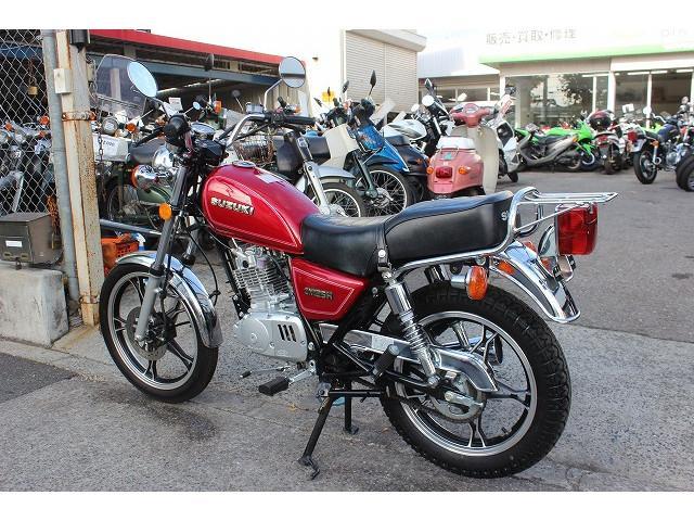 スズキ GN125H ノーマル レッド グーバイク鑑定車の画像(東京都