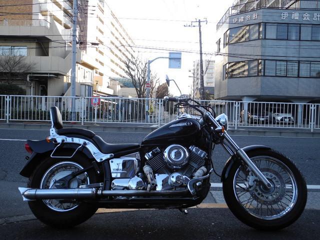 ヤマハ ドラッグスター400 フィッシュタイプカスタムマフラーの画像(東京都