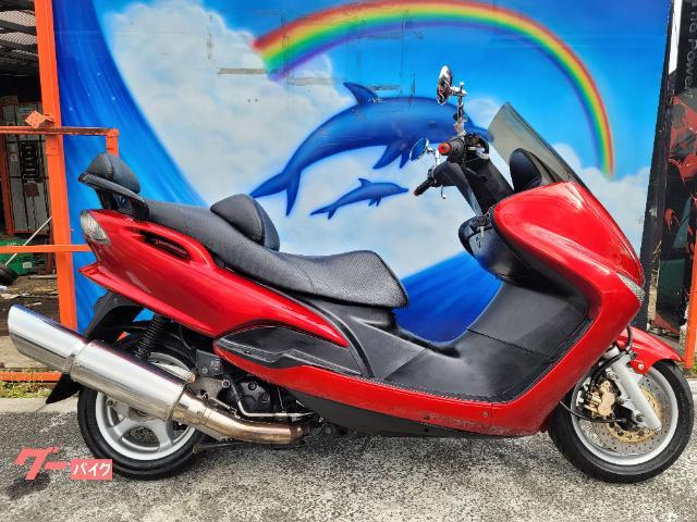 マジェスティ125 Fi オールペイント 極太スラッシュマフラー LEDヘッドライト メッキミラー 等カスタム多数 純正キー2本付