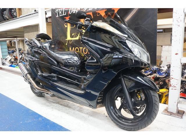 ヤマハ グランドマジェスティ250 フルカスタム フルエアロ ブラックの画像(埼玉県