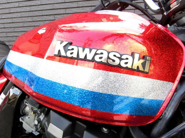 カワサキ ZRX400 REDラメローソン UPハンドル タックロールシートの画像(神奈川県