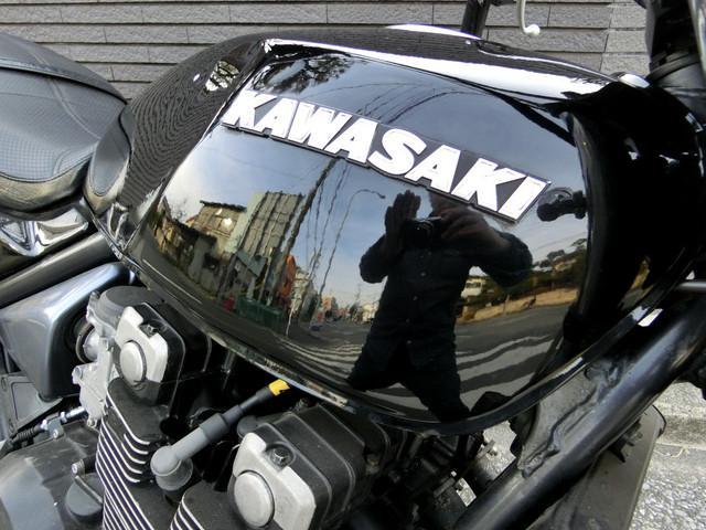 カワサキ ZEPHYR400 ブラック UPハンドル マットブラック集合管の画像(神奈川県