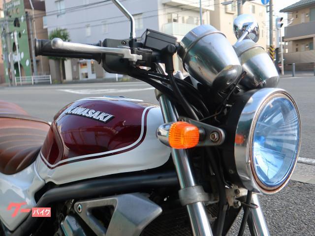 カワサキ BALIUS 白赤ラップペイント 集合管 タックロールシートの画像(神奈川県