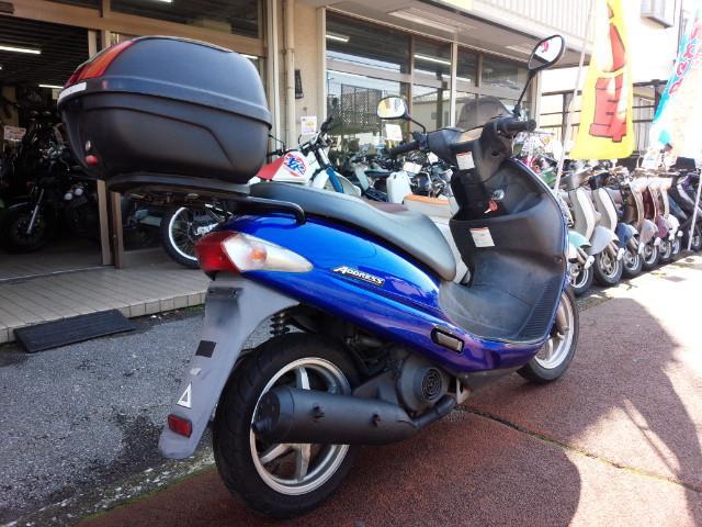 スズキ アドレス110 2サイクル リヤボックス付きの画像(埼玉県