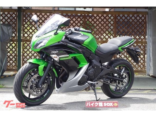 カワサキ Ninja 400ABS スペシャルエディション ヘルメットホルダー装備の画像(滋賀県