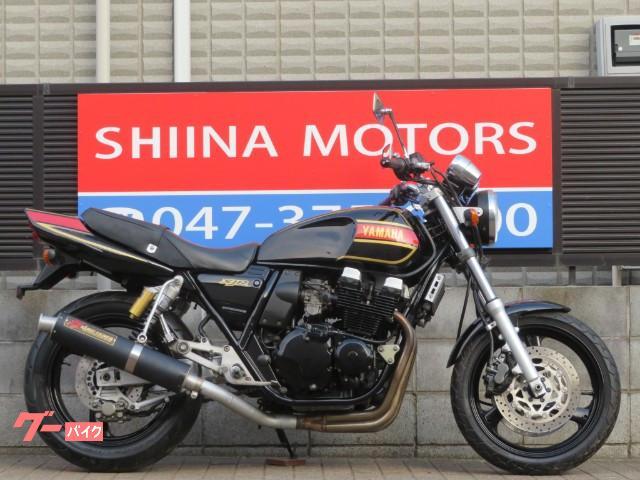 XJR400 13217 RZカラー サンセイレーシングマフラー ブラックホイール