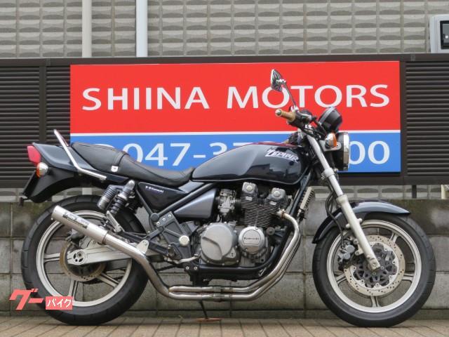 ZEPHYR400 13261 1型 プリティーレーシングマフラー タンデムバー ダークブルー