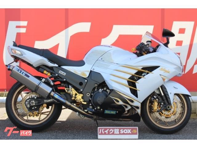 Ninja ZX−14R ABS 2014年モデルSE オーヴァースリップオン Kファクトリーバックステップ 純正オーリンズRサス
